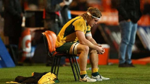 Wallabies captain Michael Hooper was one of three players who intervened on behalf of Kurtley Beale.