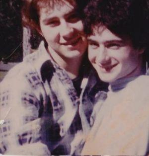 Tim Conigrave, left, and John Caleo.