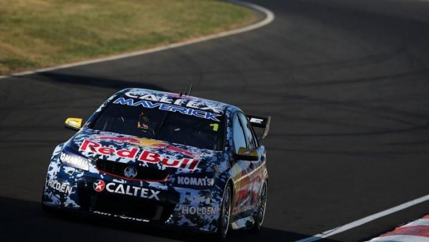 Agonisingly close: Jamie Whincup chased victory until the very end of the Bathurst 1000.