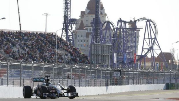 Mercedes driver Lewis Hamilton during the Russian Grand Prix at the resort town Sochi.