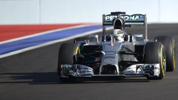 Lewis Hamilton's win has secured the constructors' title for his Mercedes team.