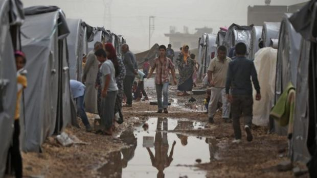 A refugee camp in Suruc for Syrian Kurds who have fled Kobane.