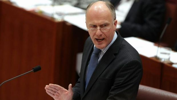 Senator Eric Abetz's name is being removed from electronic notice boards in the ATO discussing the current pay dispute.