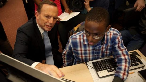 In June, Prime Minister Tony Abbott visited the Pathways in Technology Early College High School in Brooklyn.