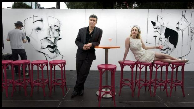 Mikelangelo and Clare St Clare at the Melbourne Festival Hub, where their new  album will be launched.
