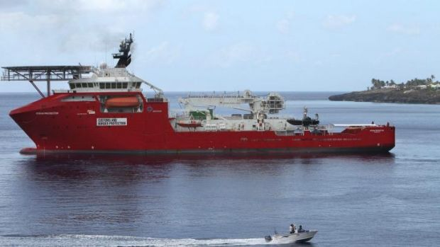 Ocean Protector: 157 asylum seekers were detained on the vessel for a month earlier this year.