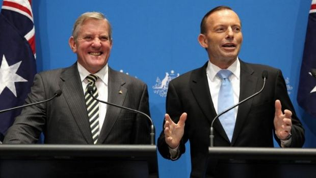 Industry Minister Ian Macfarlane and Prime Minister Tony Abbott on Tuesday.