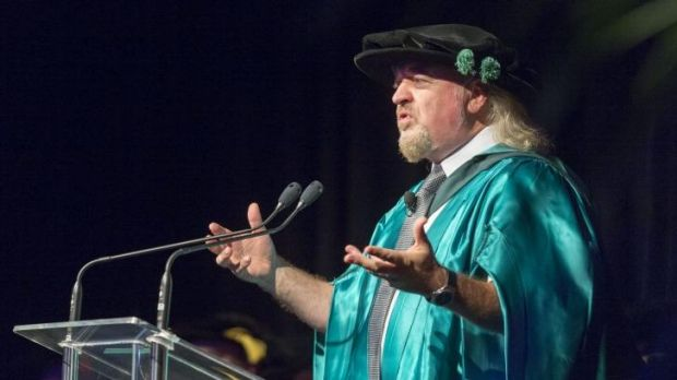 Comedian Bill Bailey talks about comedy, conservation and British naturalist Alfred Russel Wallace after accepting an ...
