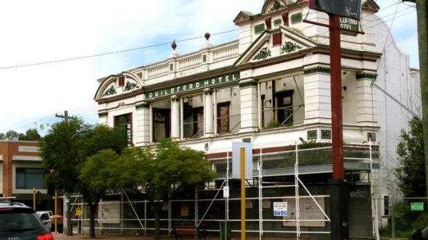 The Guildford Hotel has not been open since a fire in 2008.