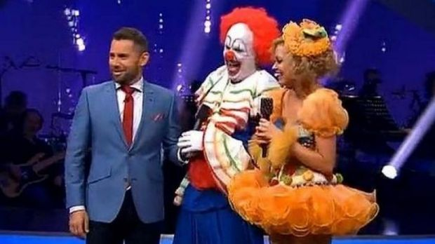 Bizarre: Mark Holden performed on <i>Dancing with the Stars</i> as a clown.