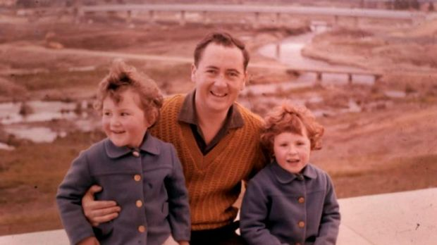 50 years ago: Dan Lee with his daughters Julie Anne and Margaret in 1963.