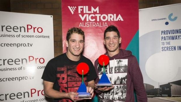 Gonged: Michael Philippou (left) and Danny Philippou, winners in the best overall category in the inaugural Australian ...
