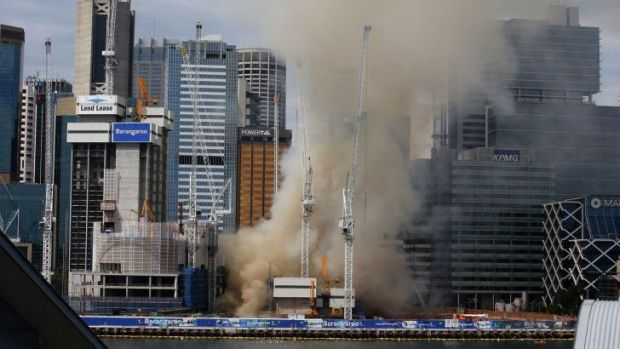 The Barangaroo fire caused traffic chaos and forced thousands to evacuate.
