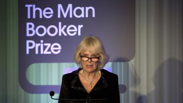 Camilla, the Duchess of Cornwall, speaks at the awards dinner at the Guildhall, London.