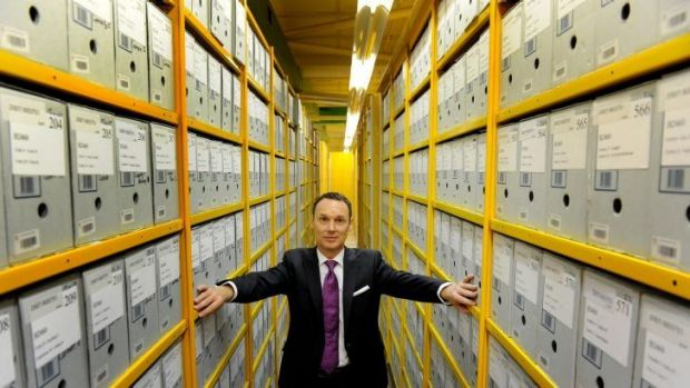 Boxing clever: Director-general David Fricker at the National Archives. He has just started his four-year international term.