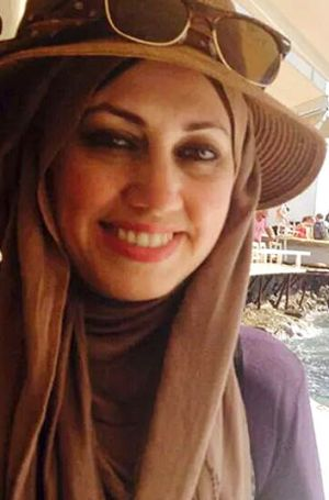 Asme Sahimi was attacked outside her place of work.