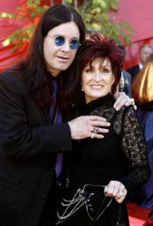 Mum and Dad: Ozzy and Sharon Osbourne.