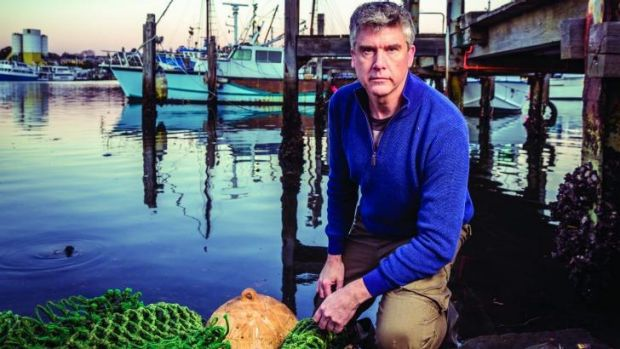 Eco warrior: Matthew Evans wants to see labelling that reflects where seafood comes from and how it was produced, so the ...