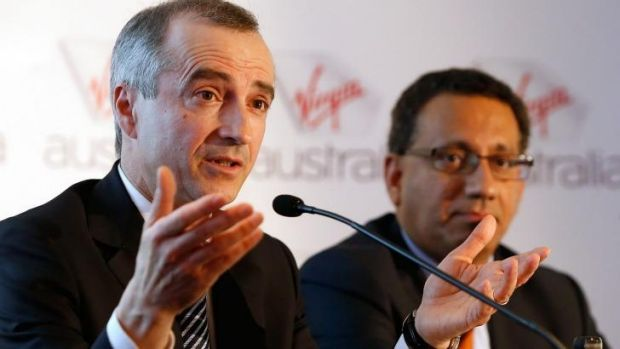 """""""We will benefit from the economies of scale"""": Virgin Australia boss John Borghetti with chief financial officer, Sankar ..."""