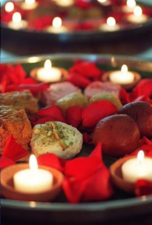 Bright colours: Indian sweets made for Diwali, the Indian festival of lights.