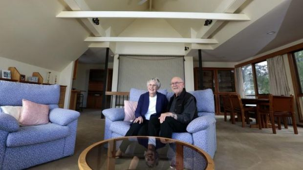 Next phase: Barbara and Lance Court, pictured at their home in Aranda, have just purchased a townhouse 350 metres away ...