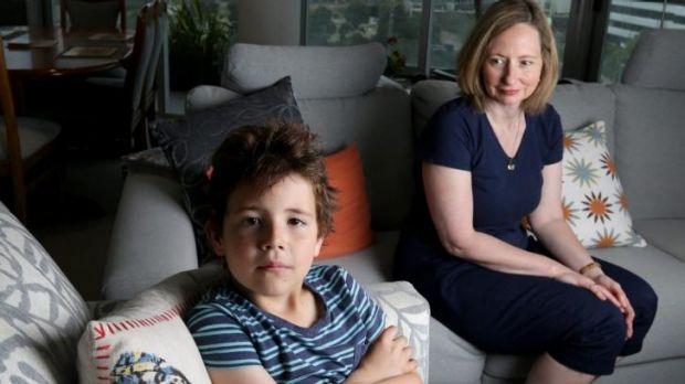 Docklands resident Janine Standfield with her son Ethan.