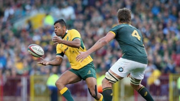 Costly bill: Kurtley Beale takes on the Springboks in Cape Town after Di Patston had allegedly confronted him on the ...