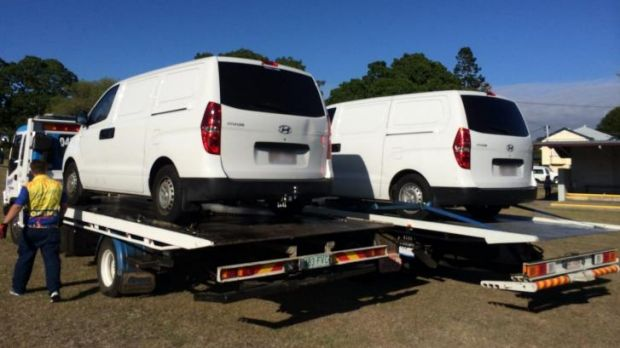 Vehicles were also seized by police.