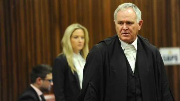 Defence lawyer Barry Roux during Oscar Pistorius's sentencing hearing in the Pretoria High Court.