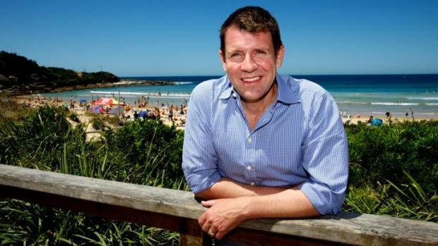 Proud: NSW Premier Mike Baird is pleased that his state once again has the leading economy in the nation.