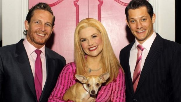 Lucy Durack who plays the lead in Legally Blonde with Rob Mills and David Harris.