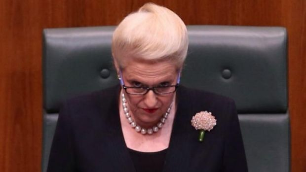 Speaker Bronwyn Bishop has denied speaking to PM Tony Abbott about reconsidering the burqa ban.
