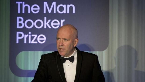 """Novels are life, or they are nothing"": Australian author Richard Flanagan speaks after being awarded the the Man Booker ..."