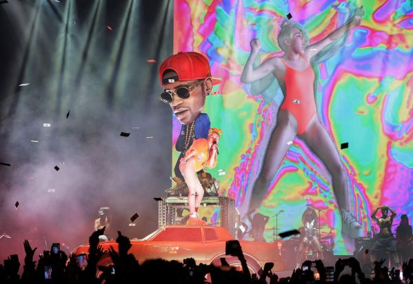 Miley Cyrus performs her Bangerz Tour live at Allphones Arena on October 17, 2014 in Sydney.