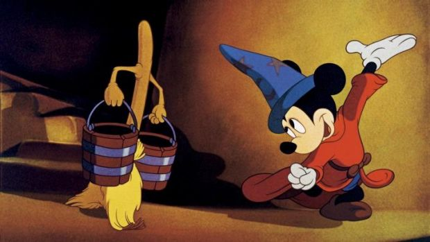 Listen closely: Mickey Mouse in Fantasia: Music Evolved.