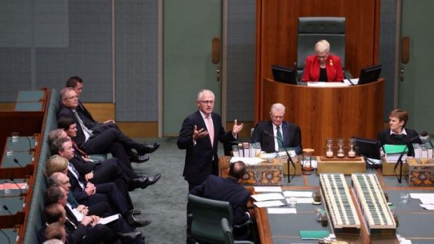 Communications Minister Malcolm Turnbull spoke during a condolence motion Mr Whitlam.