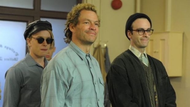 From left, Freddie Fox, Dominic West and Joseph Gilgun in <i>Pride</i>.