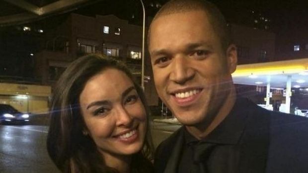 """I just signed my life away"": Laurina Fleure with Blake Garvey."