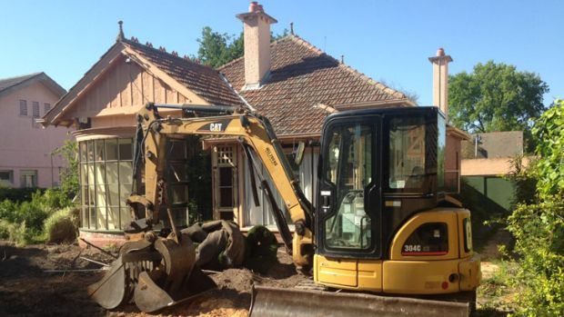 Demolition has begun at Ngara, the Kew childhood home of Gough Whitlam.