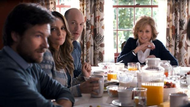 Mother dearest: Jane Fonda (at head of table) in the film <i>This Is Where I Leave You</i>.