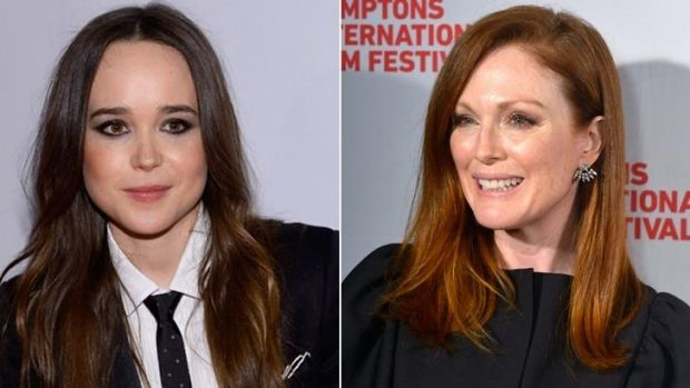 An Ellen Page (left) and Julianne Moore movie about gay rights gets banned from a Catholic school.