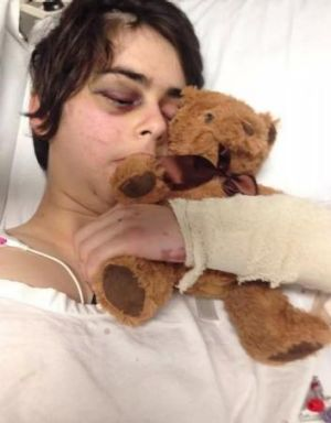 Severe injuries: Samantha Giufre.