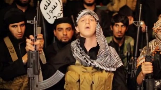 """Abdullah Elmir, from Bankstown, has appeared in an Islamic State video under the nom de guerre """"Abu Khaled from Australia""""."""