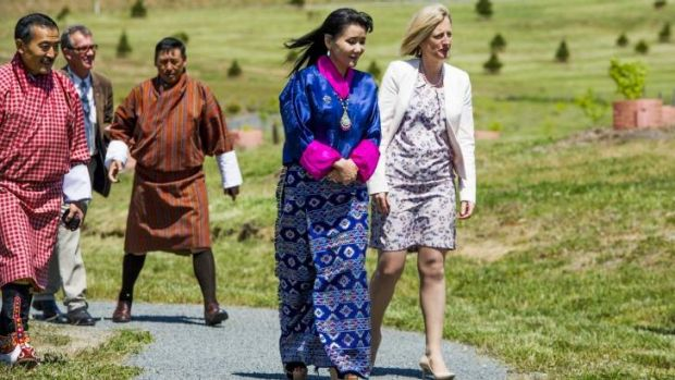 Chief Minister Katy Gallagher and Her Majesty Gyalyum Sangay Choden Wangchuck, Queen Mother of Bhutan.