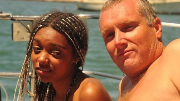 Phoned home: Sophie Wilde and her father Simon Wilde.