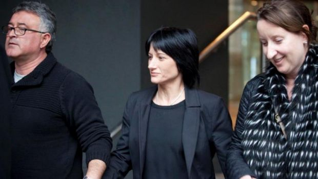 """Terminated"": Lisa Zanatta (centre) at the royal commission to give evidence in July."