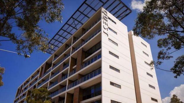 Quest serviced apartments at Sydney Olympic Park, Homebush, which are to be sold to the Ascott fund.