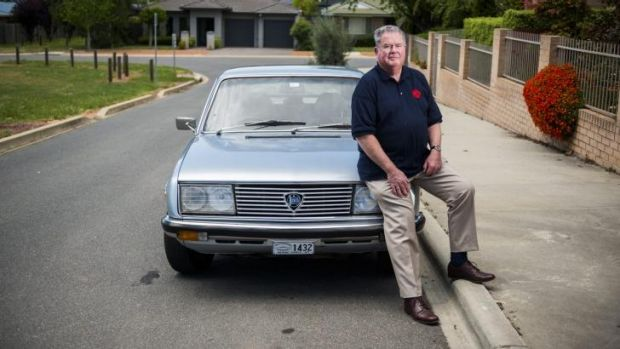 John Robinson, of Gungahlin, who is taking part in an ANU research project to evaluate driver safety in older drivers.