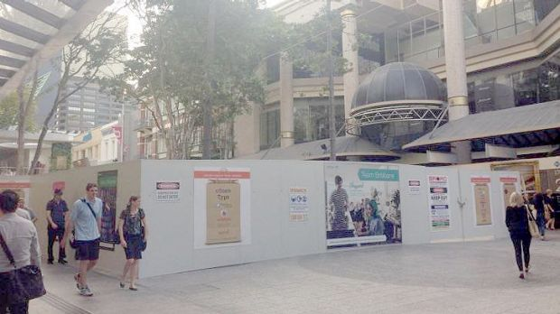 Brisbane's Queen Street Mall remains a construction site just three weeks out from G20.