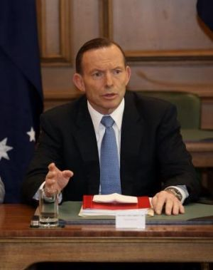 War Memorial threat: Prime Minister Tony Abbott on Friday.